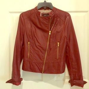 Black Rivet Maroon Leather Jacket
